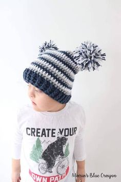 Baby Babies Girls Knitted Winter Bobble Hat Pom Pom Ear Flap Tie Up Cream 093