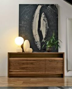 Doki live edge wood sideboard with three doors and a practical upper open compartment. Available in natural or grey walnut wood. Drawing Room Furniture, Muebles Living, Italia Design, Live Edge Wood, Contemporary Decor, Walnut Wood, Furniture Design, Living Room, Real Wood