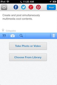 Search and post videos from YouTube, pictures from Flickr and music from Grooveshark!