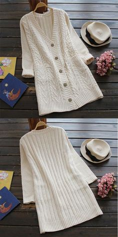 That's it, $24.99. Free Shipping & Easy Return + Refund!  Go wherever the wind takes you in the Full Exposure Twist Long Sweater Cardigan. Keep it simple this season with its twist pattern and lovely pockets at sides. Show off now!