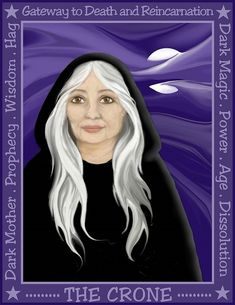 Goddess The Crone Wicca, Magick, Witchcraft, Pagan, Witch Face Paint, Myth Stories, Traditional Stories, Moon Goddess, Goddess Art