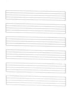*Print at 150% - staff paper | Miss Jacobson's Music: MANUSCRIPT STAFF PAPER