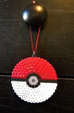 Pokemon Pokeball Perler Bead Sprite Ornament Video Game Pocket Monsters. $3.25, via Etsy.