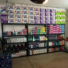 Stockpile and coupon organization and storage. Food Storage Rooms, Food Storage Organization, Kitchen Organization Pantry, Coupon Organization, Organization Skills, Pantry Ideas, Organizing Ideas, Storage Ideas, Stock Room