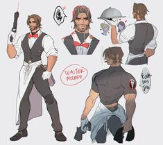 For context: In Retribution, McCree was supposed to be undercover as a waiter but he got fired after getting angry at a customer haha