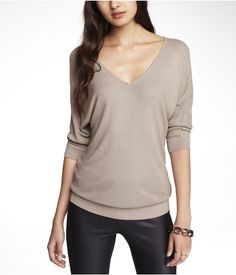 DOUBLE V-NECK SWEATER | Express