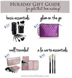 Great holiday gifts for makeup lovers #holidays #gifts #makeup