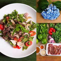 Thai Direct's Nam Tok Nuo (beef salad) Spice it up if you prefer. Happiness & Good Health are homemade. Enjoy cooking!
