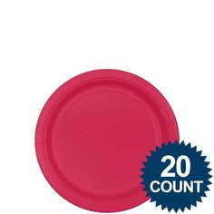Check out Hot Pink 7 Paper Plates, 20 ct. - Bargain Solid Tableware Accessories from Wholesale Party Supplies