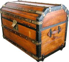 Extremely rare bevel top trunk #104