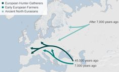 European gene pools seems to be derived from three ancient populations