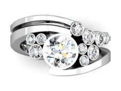 Custom Cluster Diamond Engagement Ring
