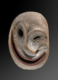Yupik Face Mask, late 19th century, Alaska Wood, pigment. Collected in late 19th century by Bishop Farhout, MacKenzie River area