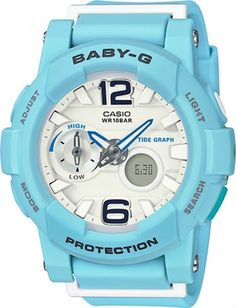 Buy Beautiful Baby-G Tough and Water Resistant Ladies Analog and Digital Sports, Business & Casual Watches from Casio Baby-G Female Timepiece Series. G Watch, Casio Watch, Weekend Deals, Beach Color, Baby G, Baby Blue, Online Watch Store, Blue Band, Casual Watches