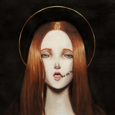 """Virgins of Perverseness"" exhibition (Oils) by CRAJES , via Behance"