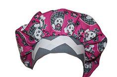 Scrub Cap Surgical Chemo Chef Vet Hat Bouffant Style Pink Grey Skulls Scrumptious Scrub Hatz http://www.amazon.com/dp/B00VAX45RU/ref=cm_sw_r_pi_dp_oywMvb1GG17JH