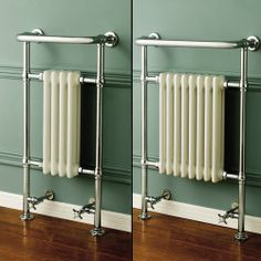 Traditional Victorian Heated Chrome Towel Rail Radiator