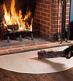 Use Our Half Round Fireproof Fireplace Rugs For Hearth Safety Are Made Of Fibergl Protect Against Sparks And