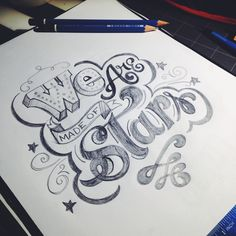 A new sketch for my #lettering class on @Skillshare #letteringdaily #handlettering #sketch #pencil