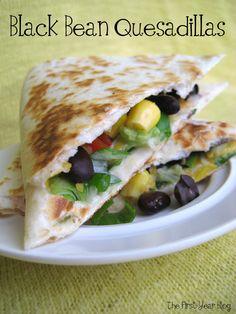Black Bean Quesadillas   The First Year Blog
