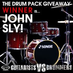 Congratulations John Sly!! What an amazing prize he won! #giveaway #sonor #drummers