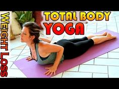 ▶ Weight Loss Yoga Workout For Beginners, 15 Minute Total Body Stretch Workout Yoga Class - YouTube