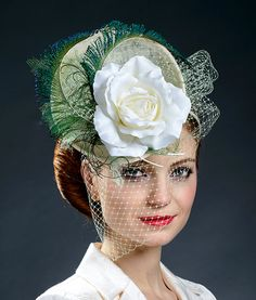 Stunning ivory hat for Derby Ascot weddings parties by MargeIilane