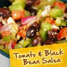 Hispanic Diabetes Recipes: Tomato & Black Bean Salsa