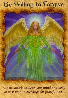 The angels are trying to help you with the topic of your question by urging you to heal anger related to your past experiences and relationships...