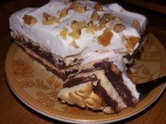 Prajitura rapida cu biscuiti si frisca - simpla, delicioasa si fara Cheesecakes, I Foods, Biscuit, Deserts, Pudding, Cooking, Sweet, Sweets, Kitchen
