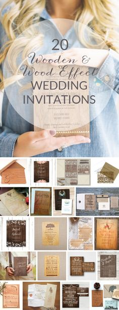 Wooden & wood effect wedding invitations | SouthBound Bride | http://www.southboundbride.com/20-wooden-wood-effect-wedding-invitations