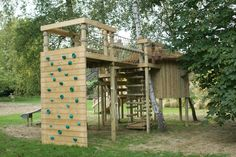 "Climbing Walls for treehouses by Treehouse Life ""...a world away from everyday"""