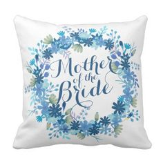 Mother of the Bride Winter Wedding | Throw Pillow - winter wedding cyo marriage wedding party gift idea