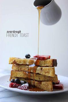 sourdough-french-toast. Made this tonight! Yummmmm