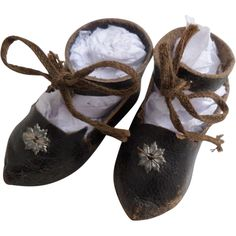 Small French Doll shoes c1900