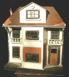 RARE-VINTAGE-ORIGINAL-LINES-BROS-TRIANG-No-71-DOLL-HOUSE-1915-REAR-OPENING