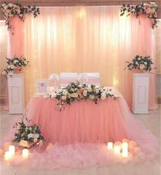 Wedding Day DIY Wedding Decoration Ideas that would surely add glam and sparkle to your big day. See the possibilities turning your wedding day into something magical! When every wedding you see on the television, in the magazines, on social medias and… Romantic Wedding Decor, Diy Wedding Backdrop, Diy Backdrop, Cake Table Backdrop, Wedding Country, Rustic Wedding, Quince Decorations, Diy Wedding Decorations, Baby Shower Decorations