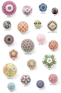 Handmade Crafts, Easy Crafts, Temari Patterns, Japan Crafts, Japanese Embroidery, String Art, Pattern Art, Art And Architecture, Decoration