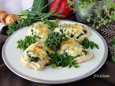 Ala piecze i gotuje: Piersi z kurczaka z jarmużem i serem
