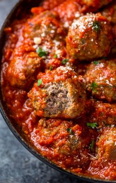 Easy Baked Meatballs Recipe & Video with Marinara Sauce - Baker by Nature . Easy Baked Meatballs Recipe & Video with Marinara Sauce - Baker by Nature beef recipes healthy Easy Baked Meatballs, Baked Meatball Recipe, Meatball Recipes, Zucchini Meatballs, Stuffed Meatballs, Bake Meatballs In Oven, Cooking Meatballs In Sauce, Baked Italian Meatballs, Whole 30 Meatballs