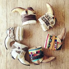 Upcycle boots like these! Add some crochet, thick fabric, some belt materials, conchos and other shiny things... this could really work! :)