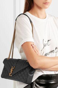 aae3fd19729c Saint Laurent - Soft Envelope quilted leather shoulder bag