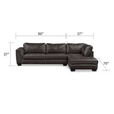 Santana 2-Piece Sectional with Right-Facing Chaise Plus Free Cocktail Ottoman…