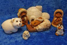 Inuit Polar Nativity Set Peru