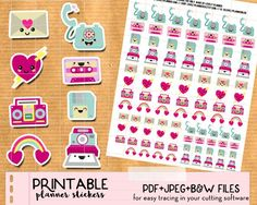 Free set of Kawaii Envelopes to track your happy mail exchanges and mail related activities in your planner: post office, bills, etc.
