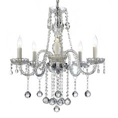 This unique design features crystal tube arms decorated with 100-percent crystal that captures and reflects the light of the candle bulbs. This Venetian style chandelier is dressed with crystal balls for even more shimmering brilliance.