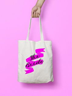 Make it clear who you are in the wedding party and in day to day life with this 'The Bride' canvas shopper from Memories Enclosed. Get them for all the bridal party and find perfect hen party bag fillers, or just to avoid the 5p bag charge…