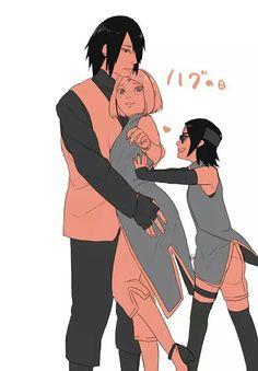 SasuSaku&Sara-chan That's right sarada! Help your parents!