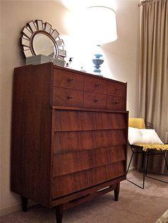 Best Rare 1960S Bedroom Set Dresser Credenza Chest Headboard 400 x 300