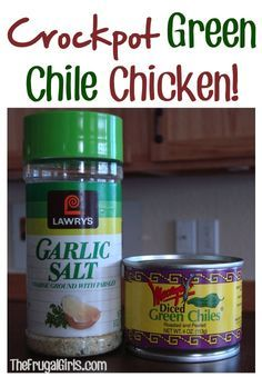 Crockpot Green Chile Chicken Recipe! ~ from TheFrugalGirls.com  {this is so yummy, SO easy to make, and perfect for Taco night!!} #crockpot #recipes